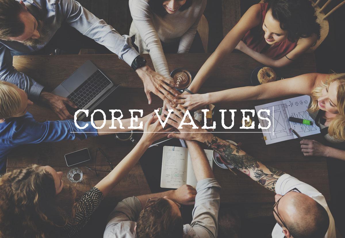 Construir una empresa a través de valores